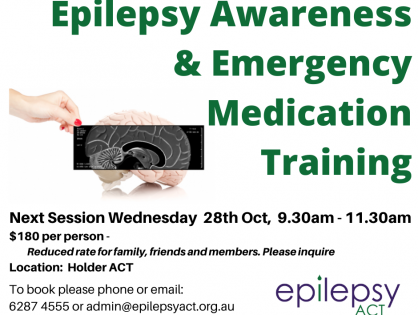 Epilepsy Training 28th October 2020 - Book Now