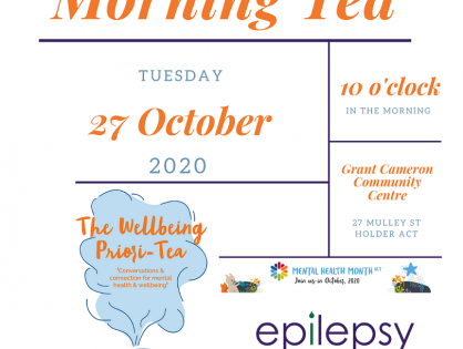 Mental Health Month Morning Tea - Tuesday 27th October