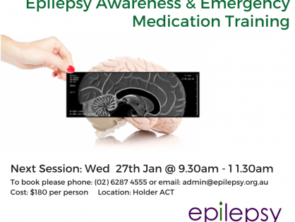 Epilepsy Awareness and Emergency Medication Training 27th January 2021 – Book Now